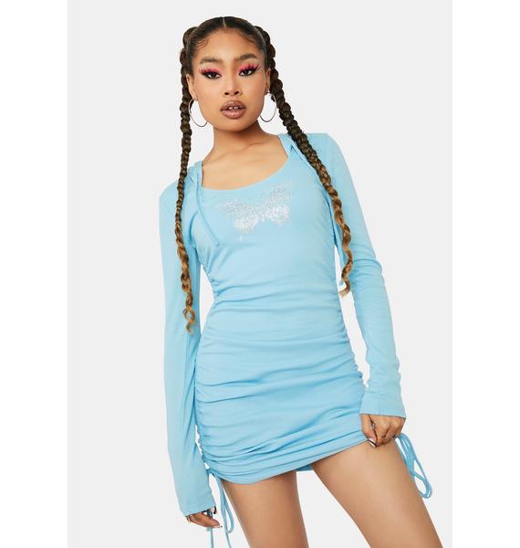 Aqua Not So Holy Ribbed Knit Dress