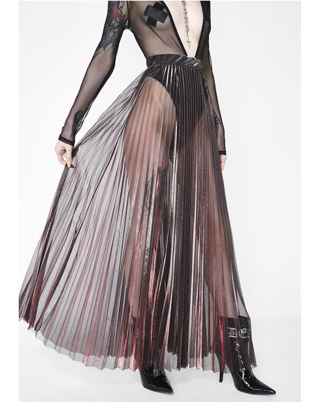 Lit Whimsical Manner Pleated Maxi Skirt