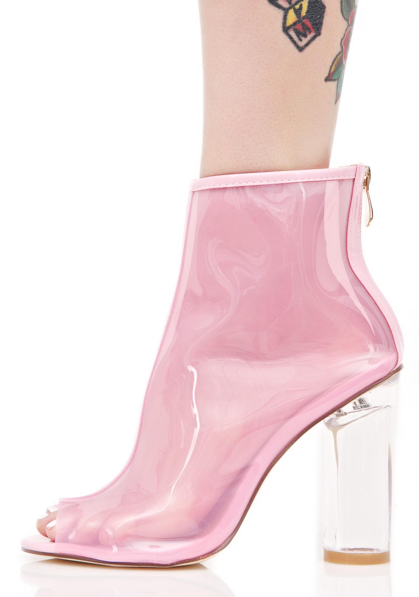 Princess Pisces Peep-Toe Boots