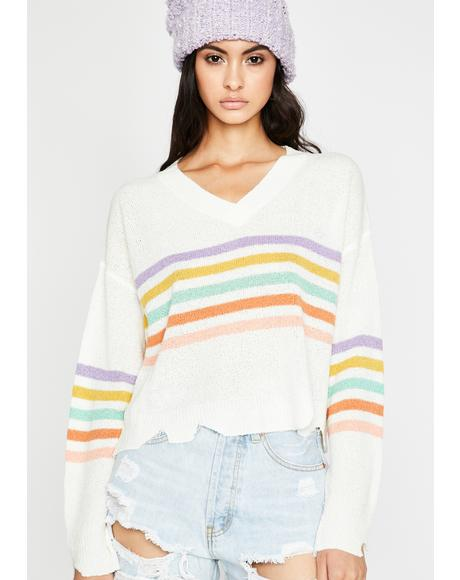 Snuggle Bae Striped Sweater