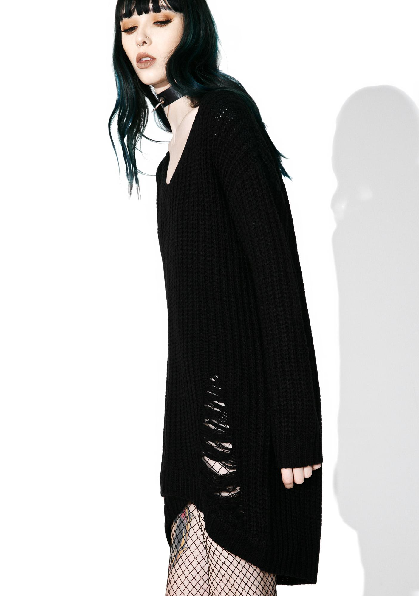 Killstar Damnation Funday Distress Knit