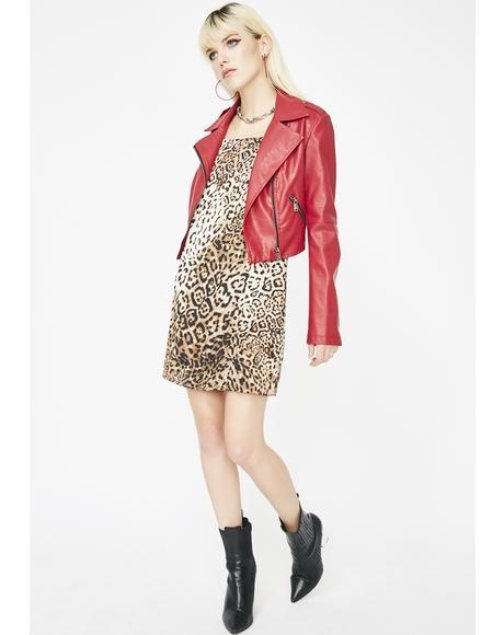 Feline Frisky Leopard Dress