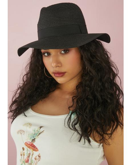 Night Wait A Minute Straw Sun Hat