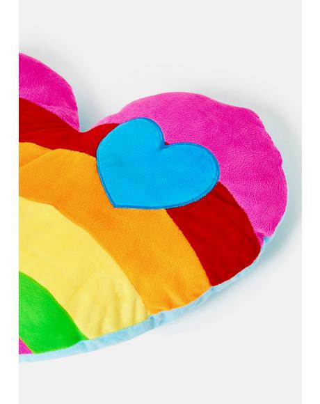 Tasting The Rainbow Plush Pillow