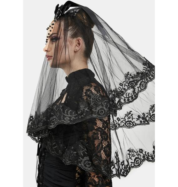 After The Funeral Lace Veil