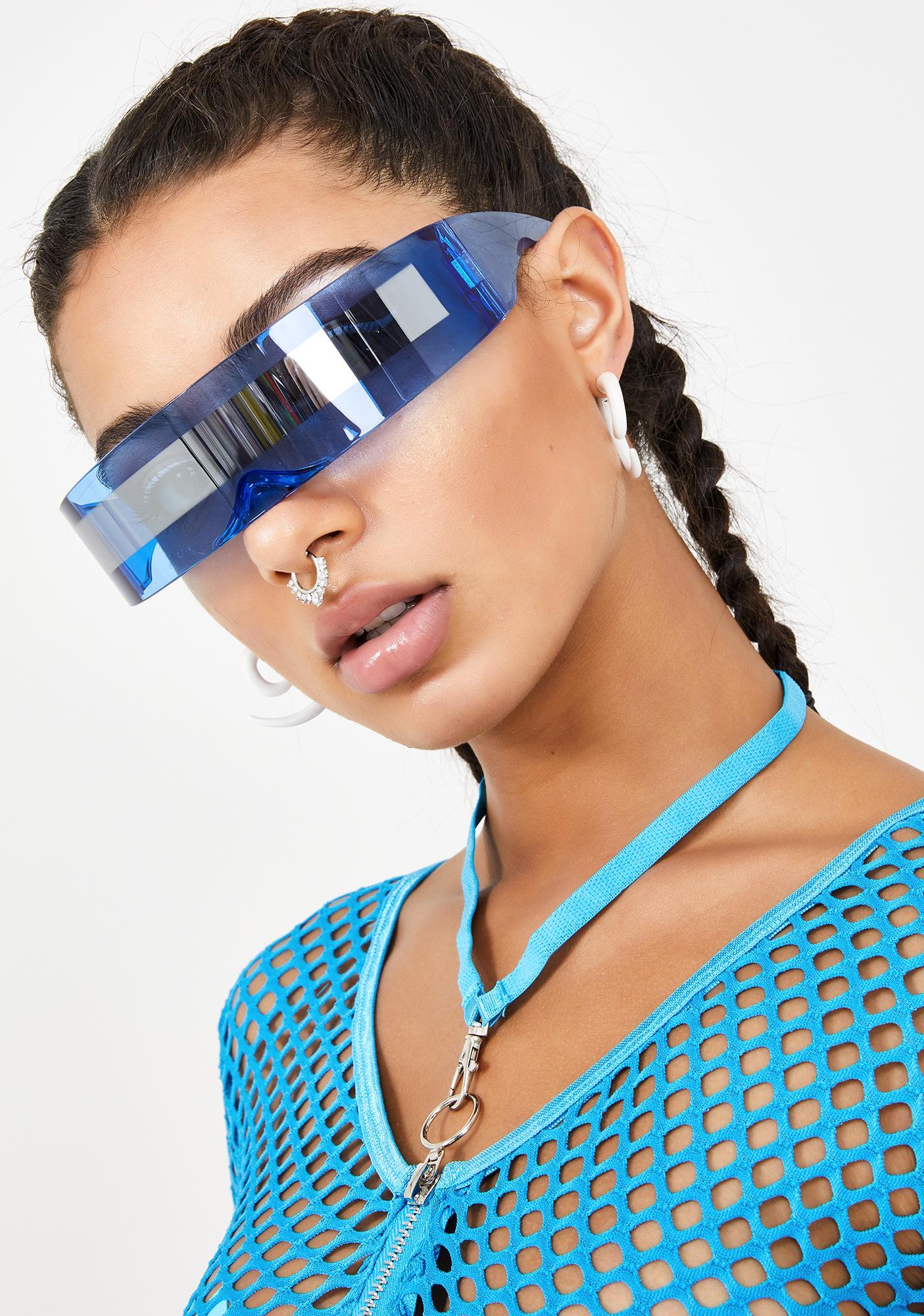 Good Times Eyewear Cobalt Robo Raver Shield Sunglasses