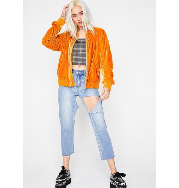 Sweet Like Honey Velvet Jacket