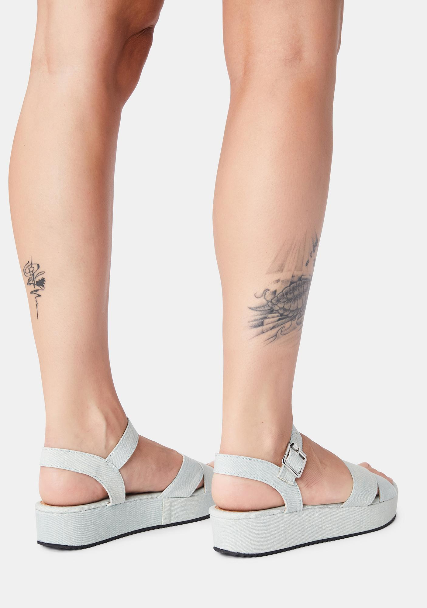 Denim Meet Me L8R Platform Sandals
