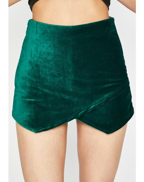 Fallin' For U Corduroy Skort