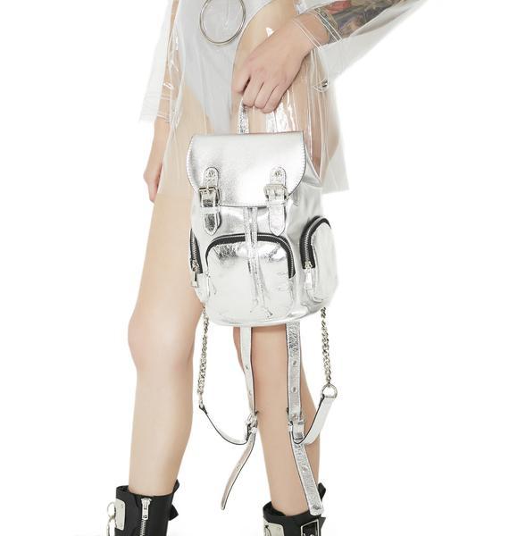 Current Mood Retrograde Metallic Mini Backpack