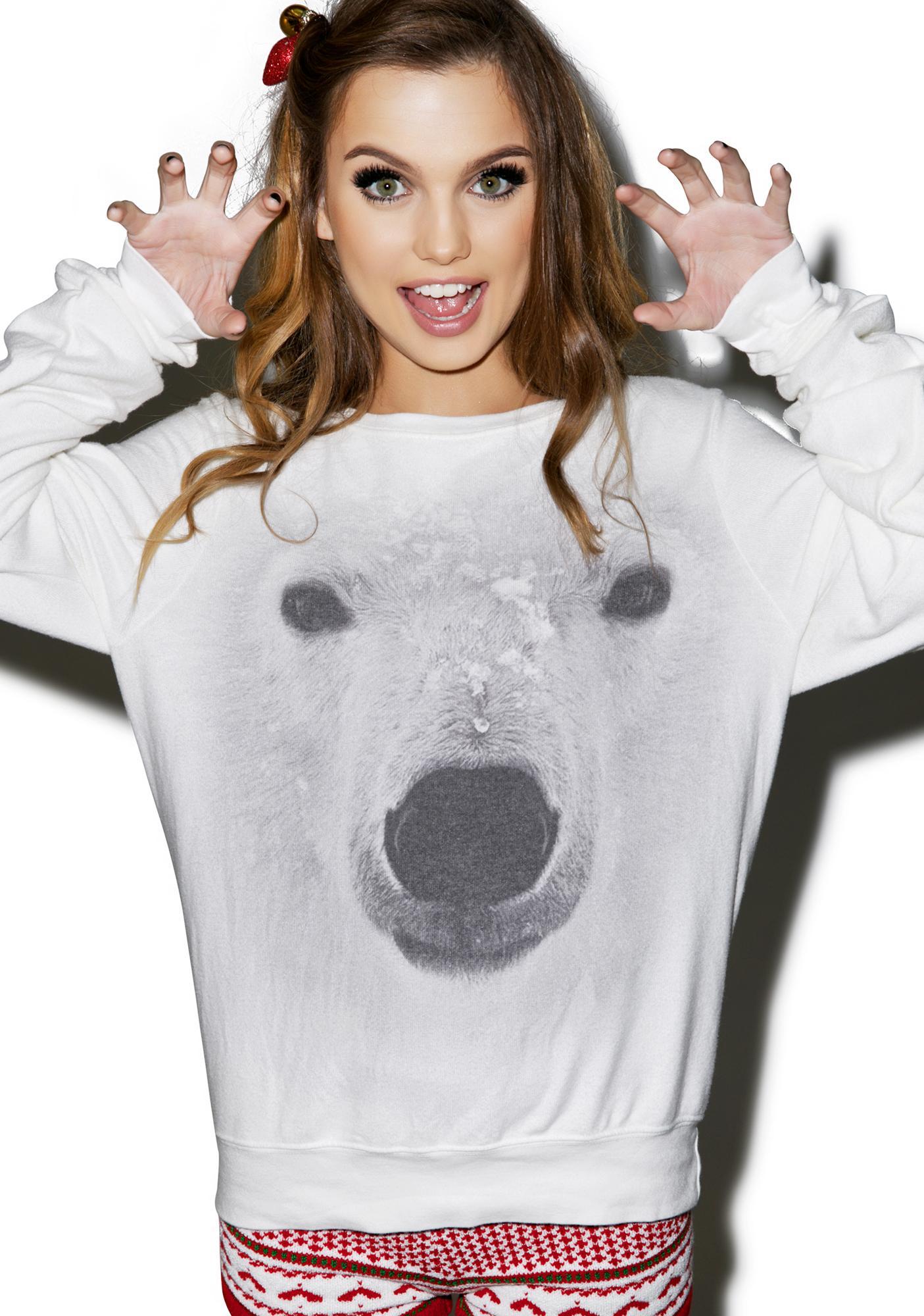 Wildfox Couture Polar Bear Baggy Beach Jumper