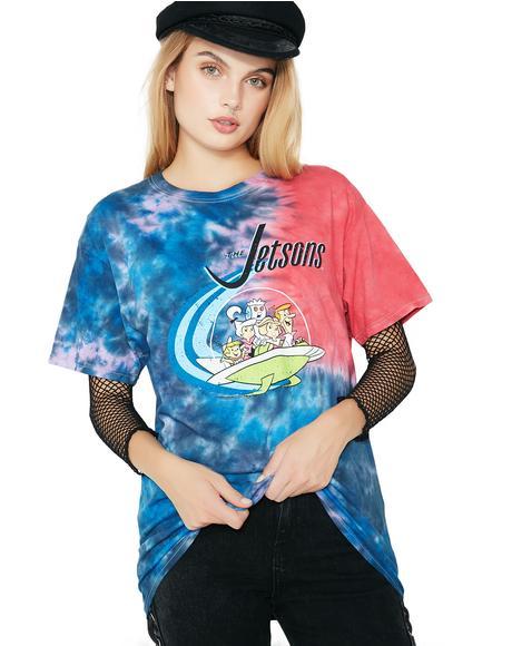 Futuristic Fam Tie Dye Graphic Tee
