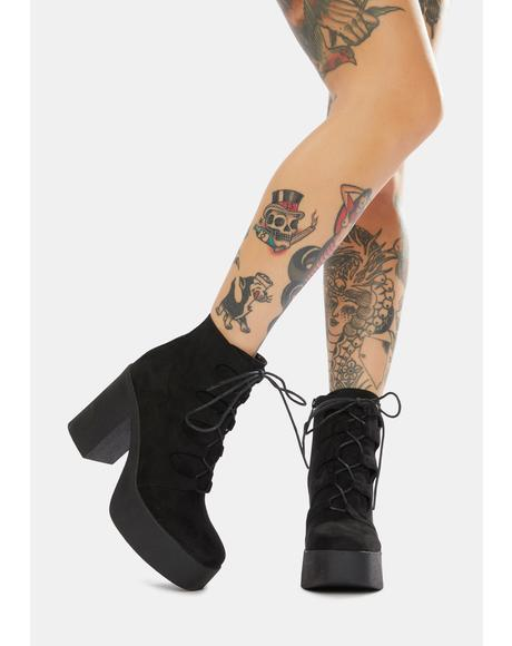 Music In Me Platform Lace Up Boots