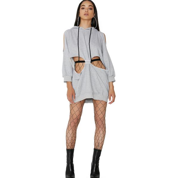 Poster Grl Ladies 1st Cut-Out Sweatshirt Dress