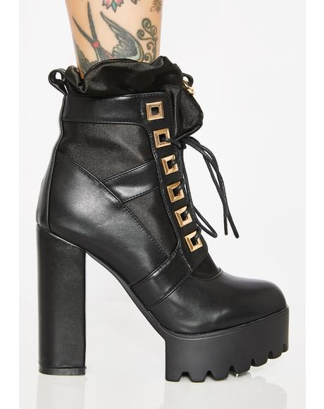 Midnight Renegade Platform Boots