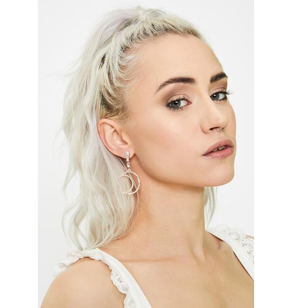 Star Child Rhinestone Earrings