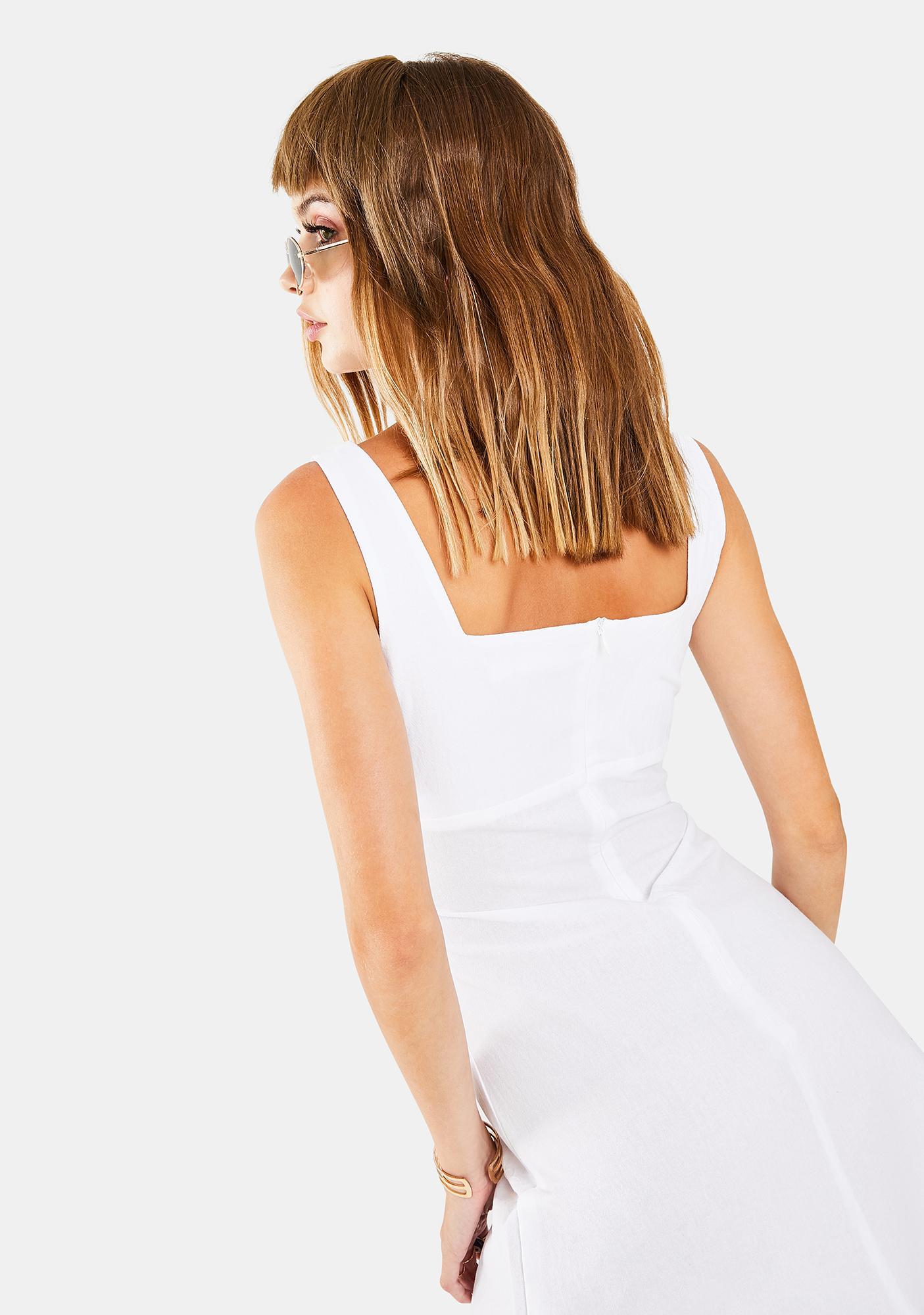 Glamorous White Sleeveless Mini Dress
