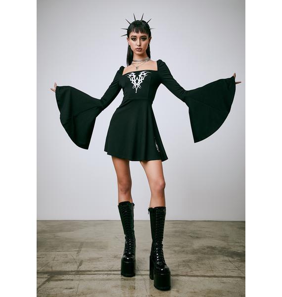 Current Mood Remain Insane Babydoll Dress