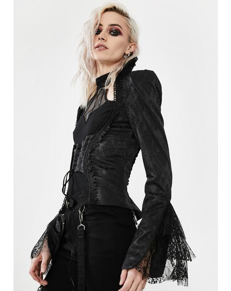 The Silence Of The Skeleton Jacquard Jacket