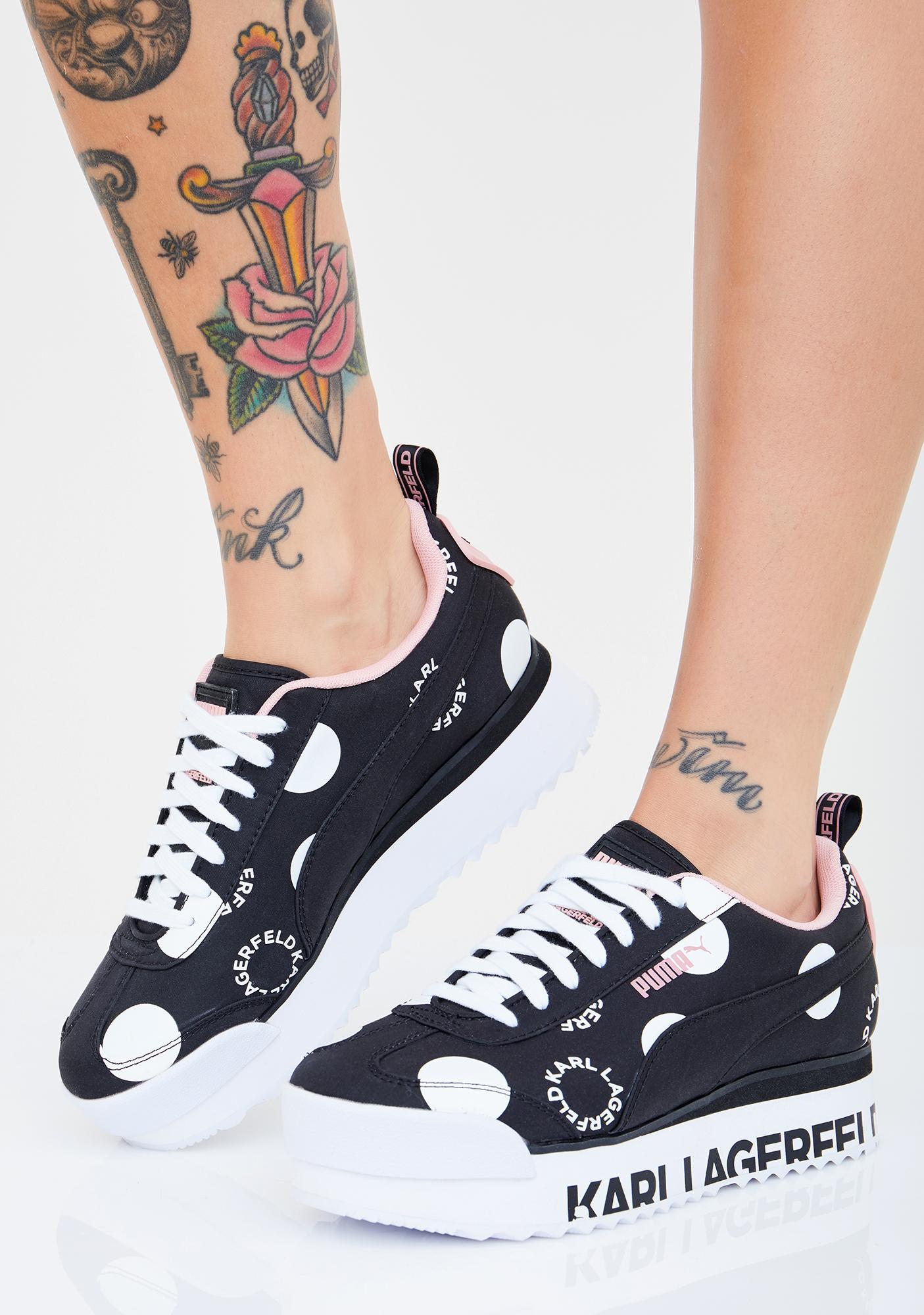 PUMA X Karl Lagerfeld Roma Amor Platform Sneakers