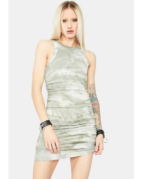 Decision Made High Neck Tie Dye Mini Dress