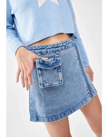 Meet Me Halfway Denim Skirt