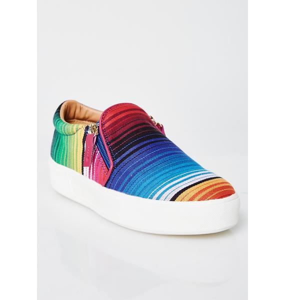 Volatile Shoes Dajon Serape Slip-On Sneakers