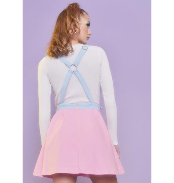 Sugar Thrillz Tender Hearted Pinafore Dress