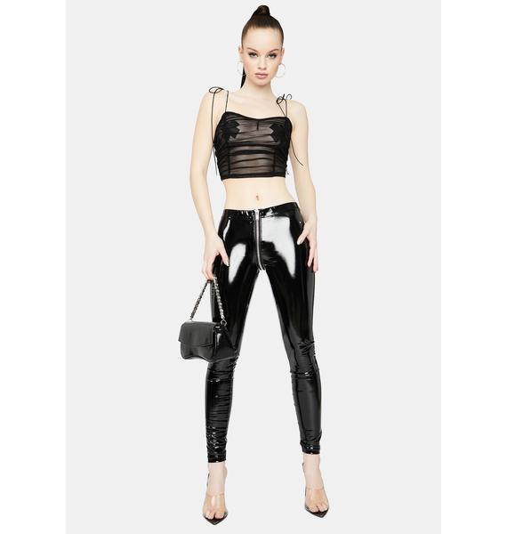 So Unforgettable Sheer Ruched Crop Top