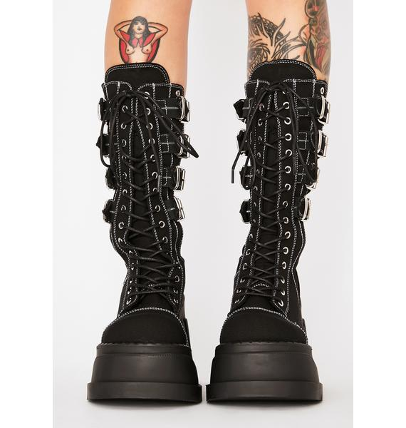 Demonia Stomp High Buckle Boots