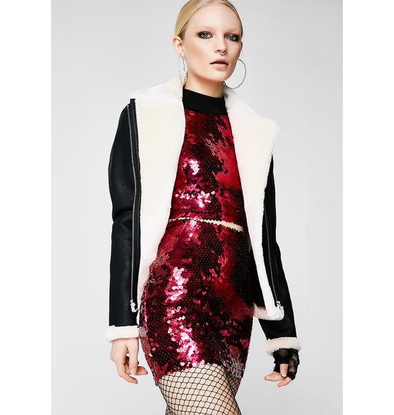 Jaded London Mini Skirt With Exposed Back Zip