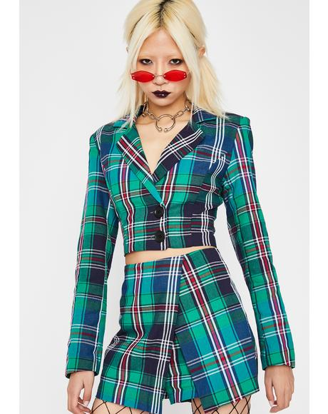 Kush Plaid Tendencies Skort Set