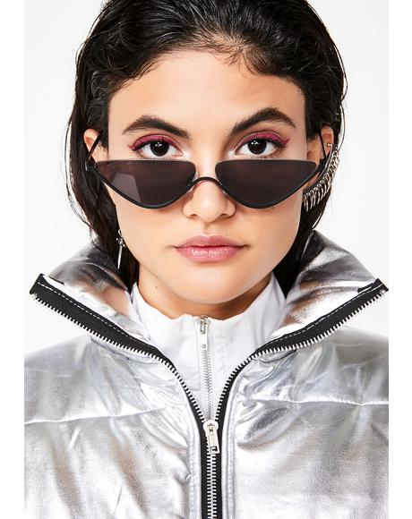 Chaos Theory Cat-Eye Sunglasses