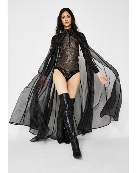 Dark Shadows Sheer Cloak