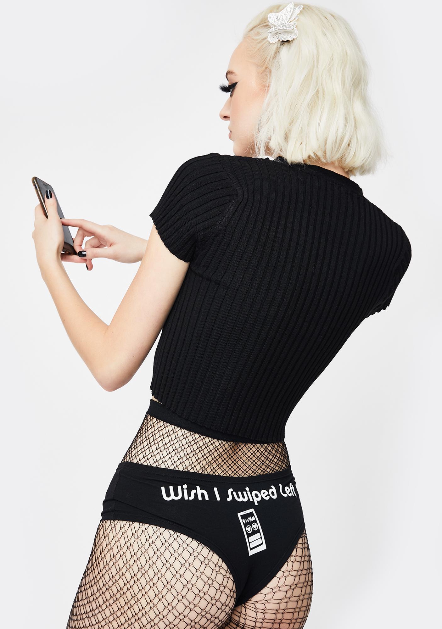 Cartel Ink Wish I Swiped Left Booty Shorts