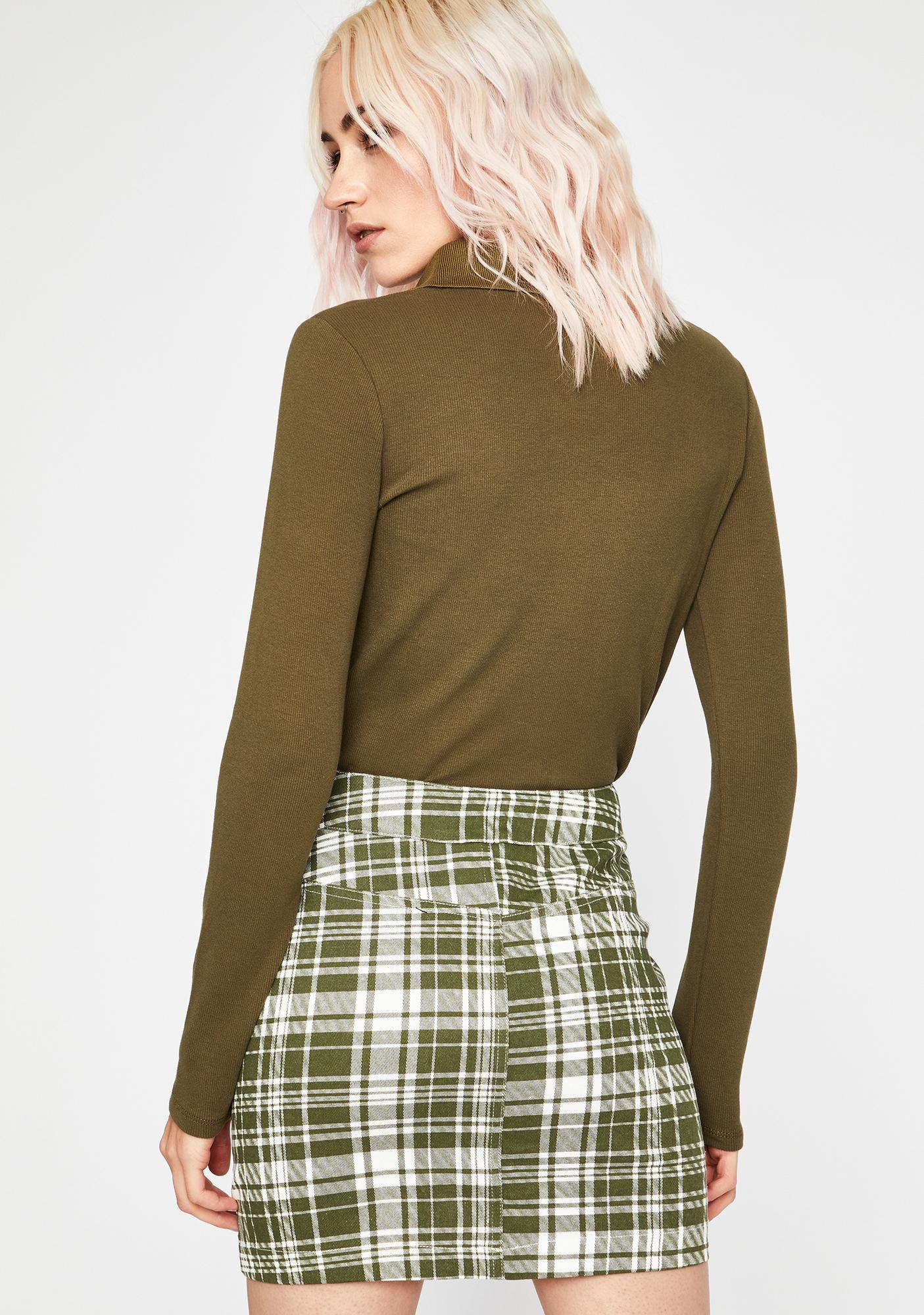 Picnic Basket Plaid Skirt