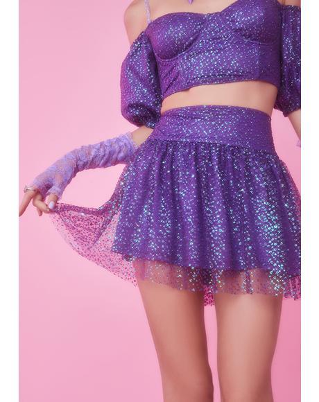 Broken Spell Glitter Skirt