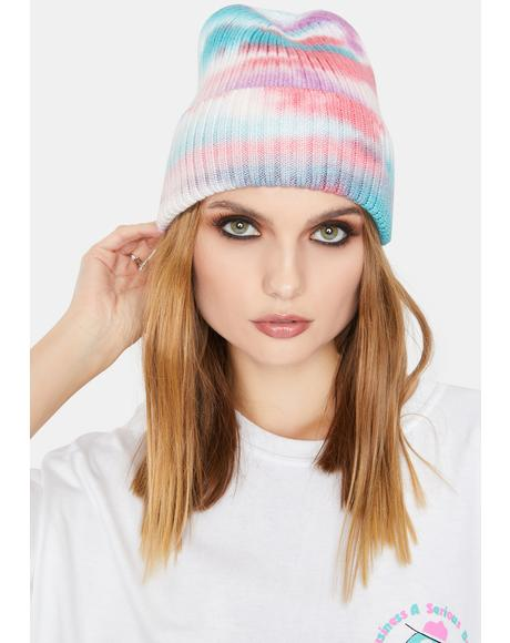 To The Max Tie Dye Ribbed Beanie