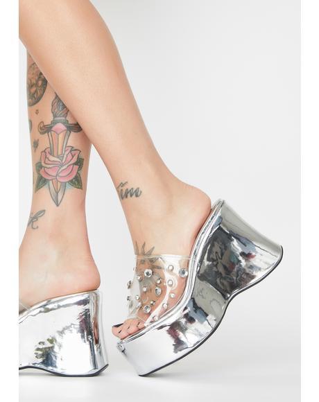 Mirror Maze Platform Sandals
