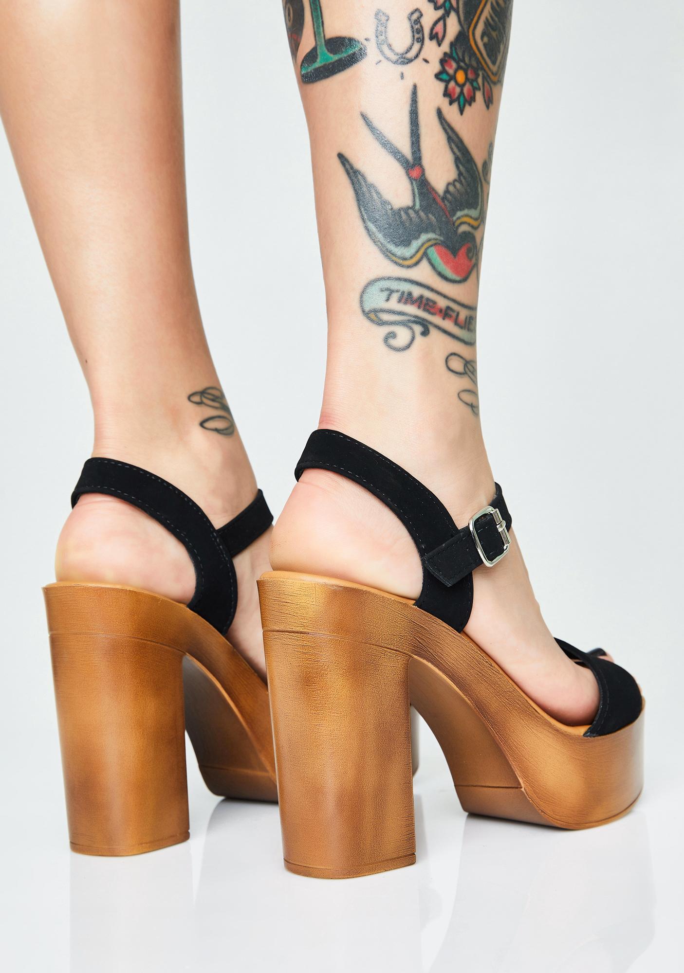 Glamour Gossip Platform Heels