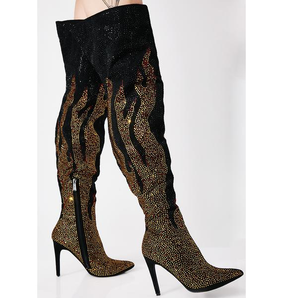 Flame Starter Over The Knee Boots