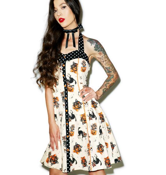 Sourpuss Clothing Black Cats Peggy Dress