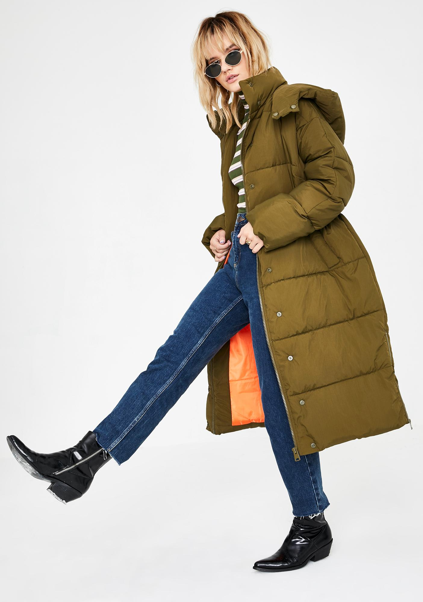 BDG Longline Puffer Jacket