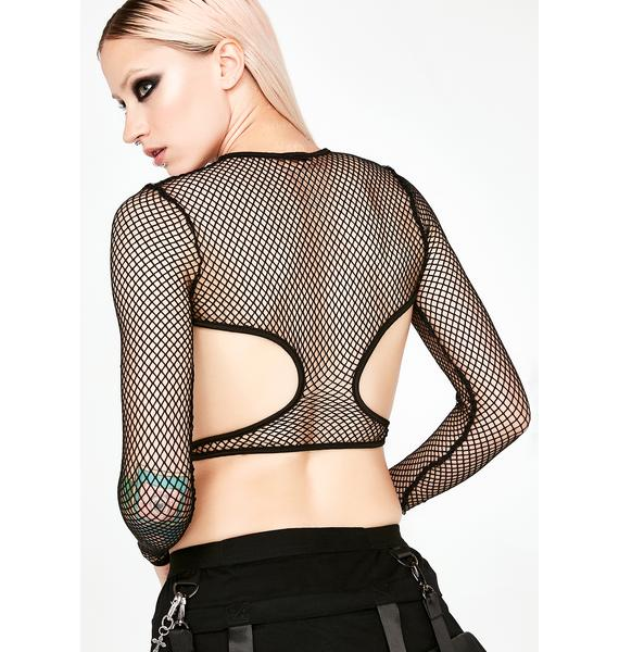 Club Exx Techno Junkie Cut-Out Top