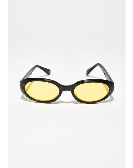 Oh So Delightful Oval Sunglasses