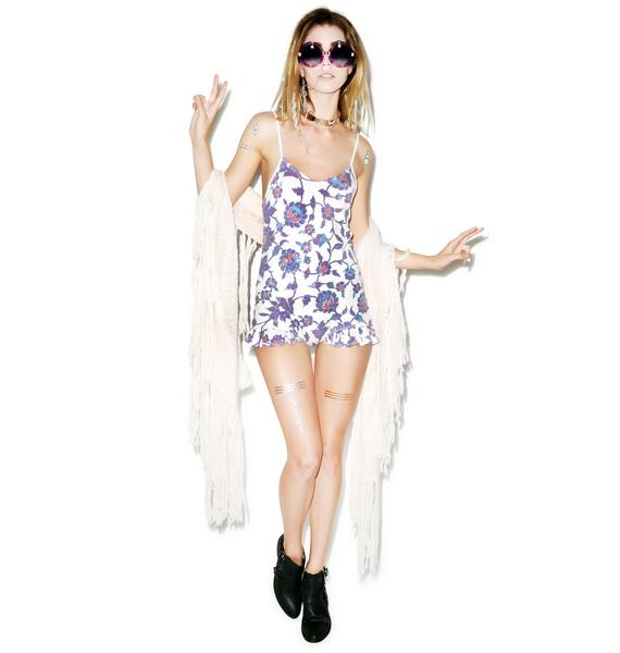 Wildfox Couture Mosque Tile Ruffle Romper