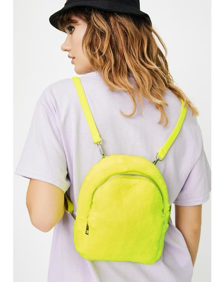 Juicy Gossip Chick Fuzzy Backpack