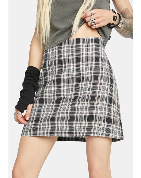Riley Hemp Check Mini Skirt