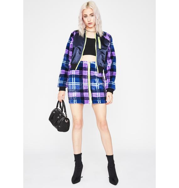 Sea What Ur Missing Plaid Bomber