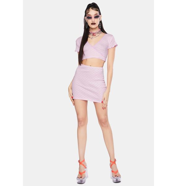 Jaded London Pink Heart Cut Out Jersey Wrap Top